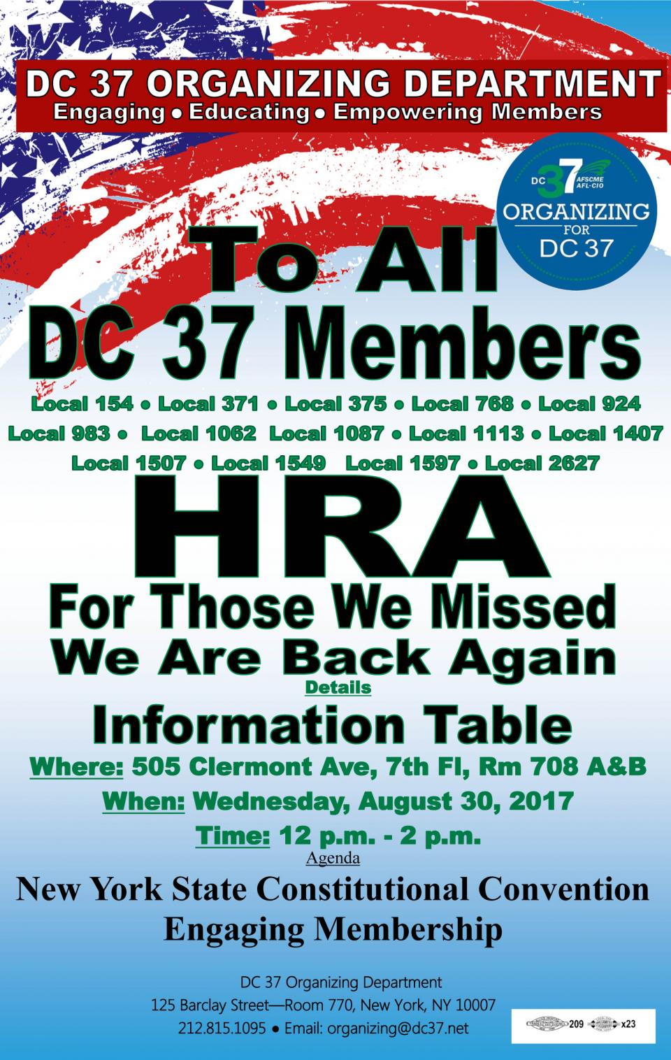 HRA - For Those We Missed We are Back Again | Local 375
