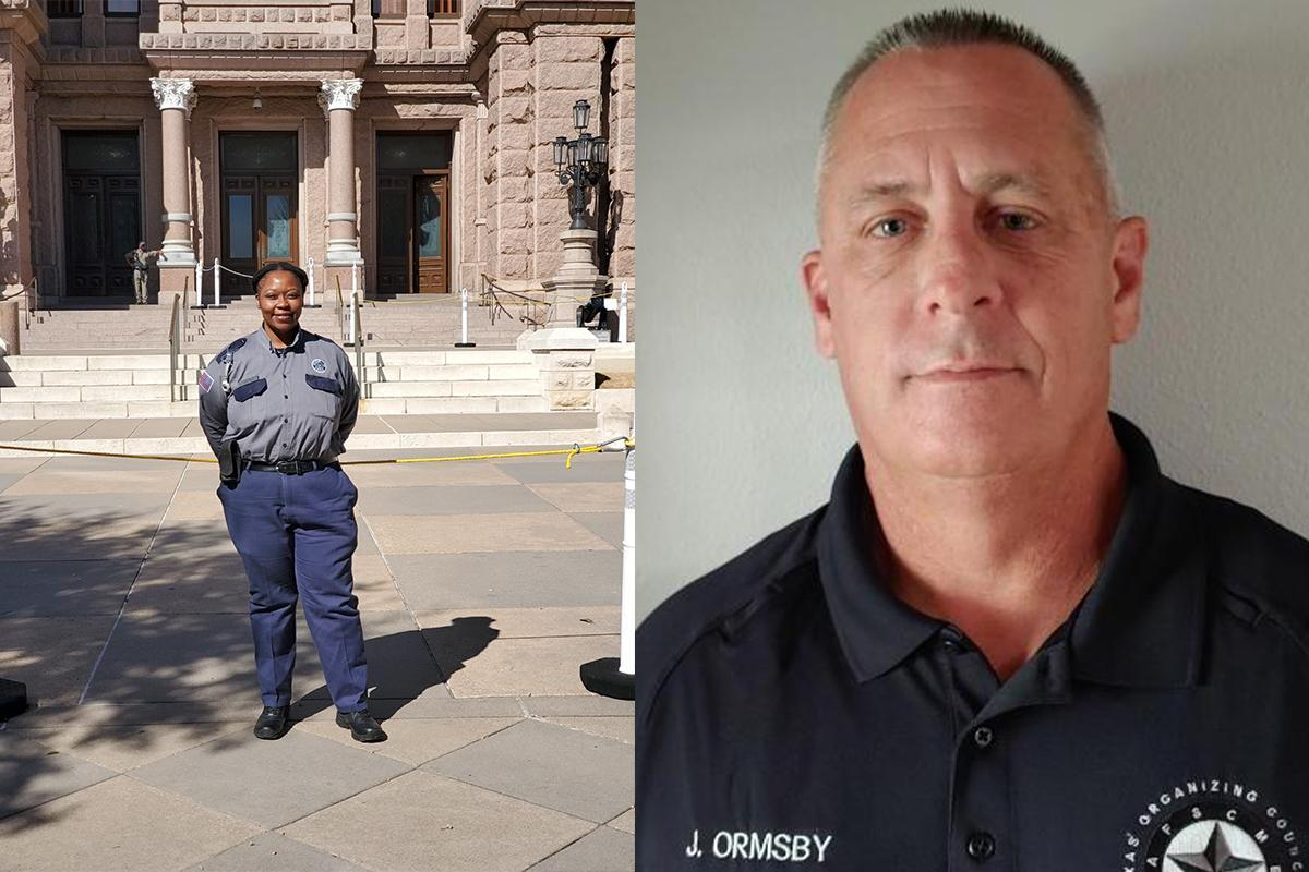 Left: President of Local 3920, Tanisha Woods. Right: TCE Executive Director, Jeff Ormsby
