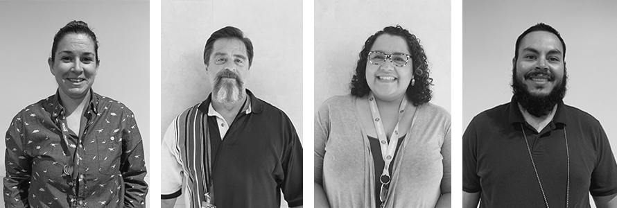 Black and white portraits of AFSCME members
