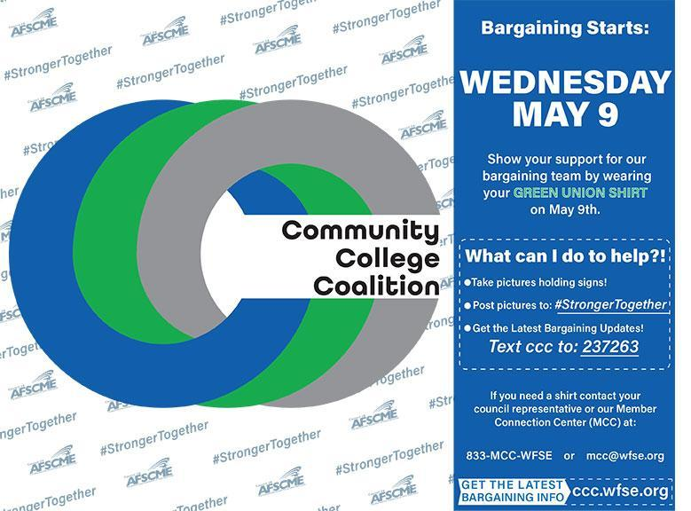 CCC Bargaining starts May 9