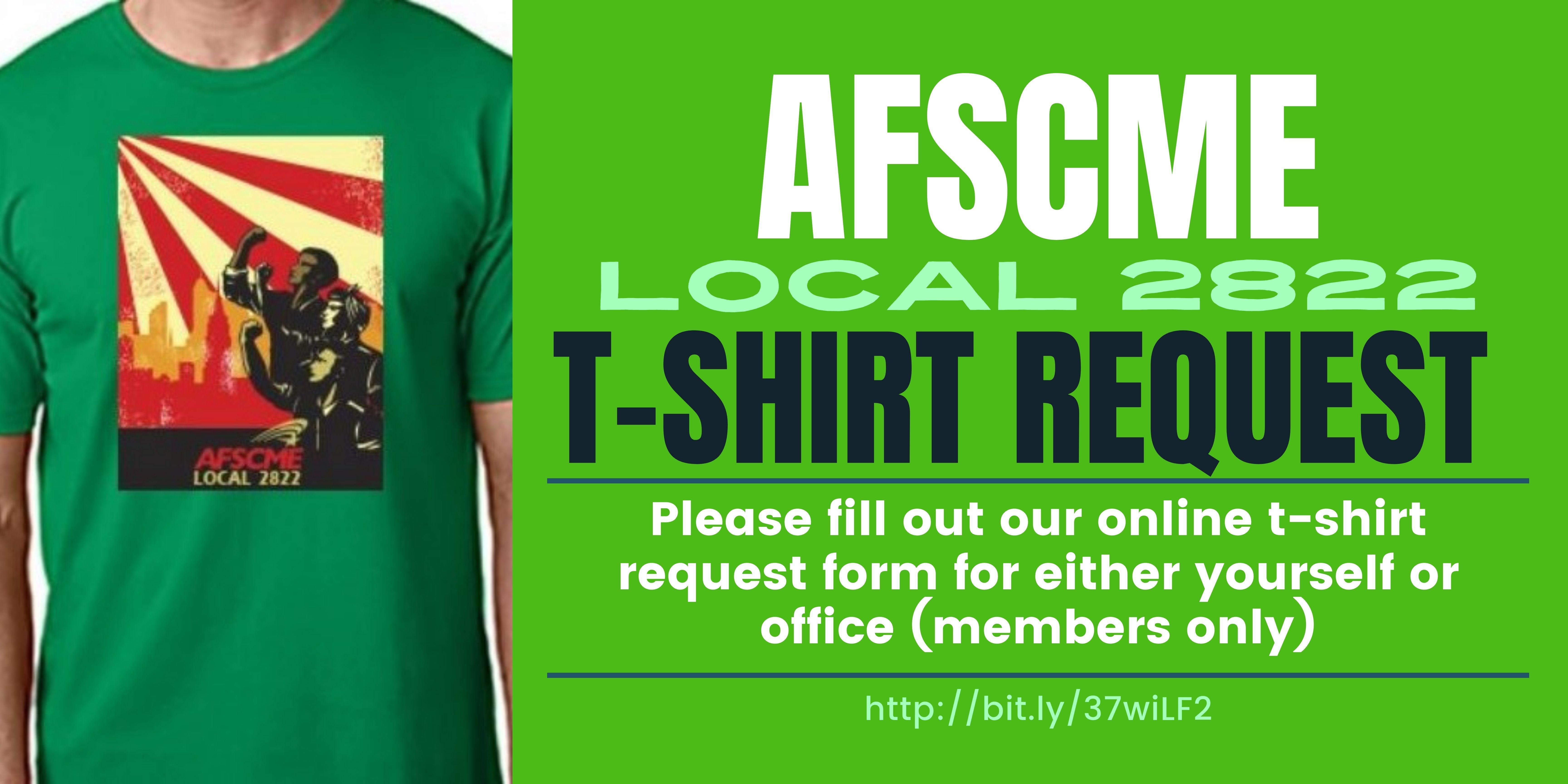Link to Union shirt request