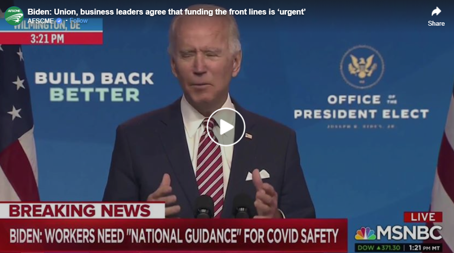 Video of Joe Biden speaking